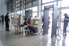 Shenzhen konwencja i Powystawowy centrum: sprawdzian bezpieczeństwa zdjęcie stock