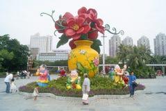 Shenzhen kultury wioski ludowy krajobraz w Chiny, zdjęcia stock