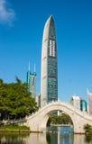 Shenzhen landmarks KingKey building Royalty Free Stock Images