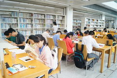 Shenzhen library, readers in reading Royalty Free Stock Images