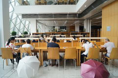 Shenzhen library, readers in reading Royalty Free Stock Photos