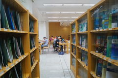 Shenzhen library, readers in reading Royalty Free Stock Photography