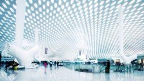 Shenzhen lotniska międzynarodowego terminal obraz royalty free