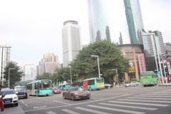 Shenzhen Luohu District people's South Road Stock Image