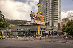 Shenzhen Mall and Street in Guangdong Province stock images