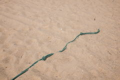 Shenzhen Meisha beach footprints in the sand hard Royalty Free Stock Photos