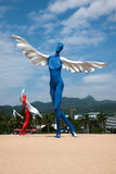 Shenzhen Meisha Beach sculpture Stock Photography