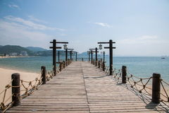 Shenzhen Meisha Seaside Park Valentine's golden coastline bridges Stock Image