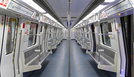 Shenzhen metro train interior Stock Photography