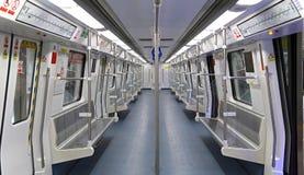 Shenzhen metro train interior Stock Photography