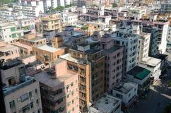 Shenzhen miasto - mieszkaniowi domy Zdjęcia Royalty Free