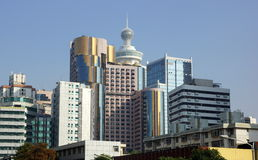 Shenzhen, modern city in China. Shenzhen, new and modern city in China Royalty Free Stock Photos