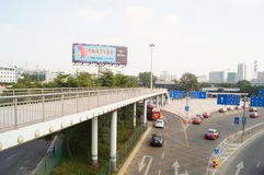 Shenzhen Nantou checkpoint traffic landscape Stock Images