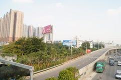 Shenzhen Nantou checkpoint traffic landscape Royalty Free Stock Image