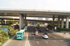 Shenzhen Nantou checkpoint traffic landscape Stock Photos