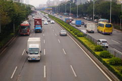 Shenzhen 107 National Highway Baoan section traffic landscape Royalty Free Stock Photography