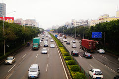 Shenzhen 107 National Highway Baoan section traffic landscape Royalty Free Stock Photos