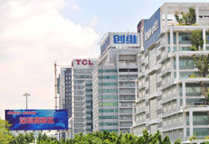 shenzhen nieuw en hoog - technologiepark Stock Fotografie