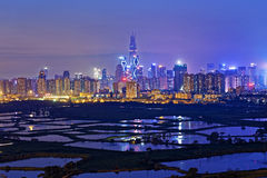 Shenzhen night Stock Image