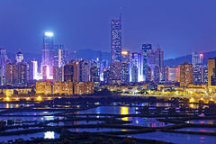 Shenzhen night Stock Photography
