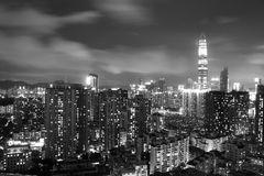 Shenzhen Night city scape Royalty Free Stock Photography