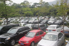 Shenzhen overseas Chinese town parking lot Royalty Free Stock Photography