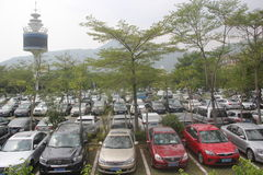 Shenzhen overseas Chinese town parking lot Royalty Free Stock Images