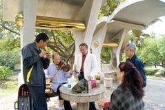 shenzhen śpiewów porcelanowi starzy ludzie Obrazy Stock