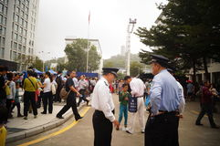 Shenzhen police open day activities Royalty Free Stock Photography