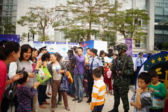 Shenzhen police open day activities Royalty Free Stock Image