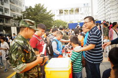 Shenzhen police open day activities Stock Photo