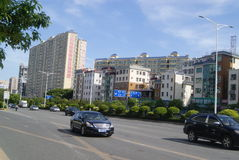 Shenzhen, porcelaine : avenue baoan Photo stock