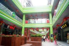Shenzhen, porcelaine : rue commerciale de popo Images stock