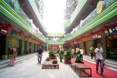Shenzhen, porcelaine : rue commerciale de popo Photos stock