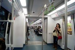 Shenzhen, porcelaine : station de métro Image stock