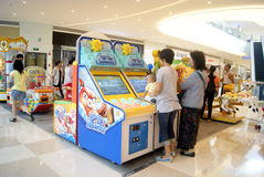 Shenzhen, porcelana: brinquedos e campo de jogos eletrônicos Imagem de Stock