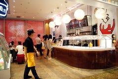 Shenzhen porcelana: cieszy się jedzenie fotografia stock