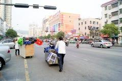 Shenzhen, porcelana: comerciantes pequenos Foto de Stock