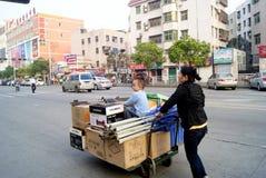 Shenzhen, porcelana: comerciantes pequenos Imagens de Stock Royalty Free