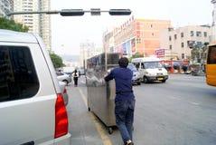 Shenzhen, porcelana: comerciantes pequenos Fotografia de Stock