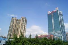 Shenzhen, porcelana: construção da cidade Fotografia de Stock Royalty Free