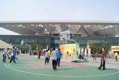 Shenzhen, porcelana: koszykówek rywalizacje Zdjęcia Royalty Free