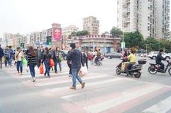 Shenzhen, porcelana: miasto ruch drogowy Obraz Stock