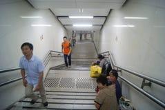 Shenzhen, porcelana: paisagem da estação de metro Imagens de Stock Royalty Free