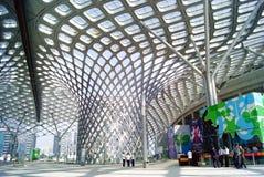 Shenzhen porcelana: podpalany Shenzhen centrum sportowe Obraz Royalty Free