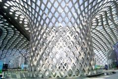 Shenzhen porcelana: podpalany Shenzhen centrum sportowe Zdjęcia Stock