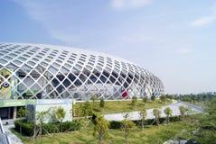Shenzhen porcelana: podpalany Shenzhen centrum sportowe Zdjęcia Royalty Free