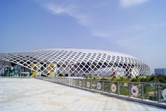 Shenzhen porcelana: podpalany Shenzhen centrum sportowe Obrazy Stock