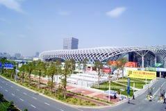 Shenzhen porcelana: podpalany Shenzhen centrum sportowe Fotografia Stock