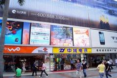 Shenzhen porcelana: qiang północy ulica obrazy stock